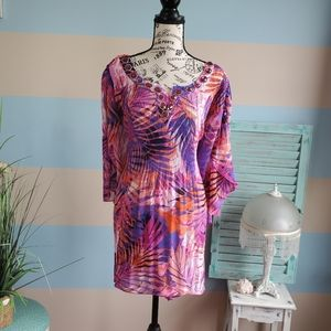 NWT Catherines Plus Size Tropical Top